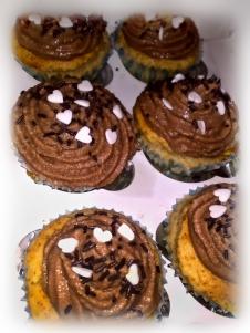 Cupcakes chocolate y plátano para tu cena especial