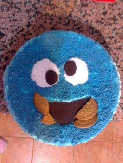 Tarta cumpleaños mostruo de las galletas