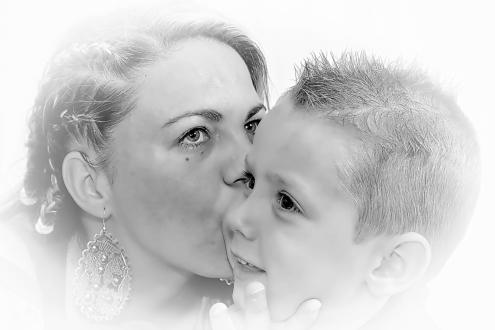 El beso de una madre